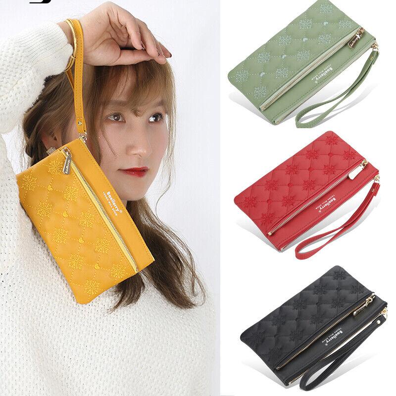Women Clutch Leather Wallet Handbag Card Holder Zip Long Purse Phone Bag Case Clothing, Shoes & Accessories