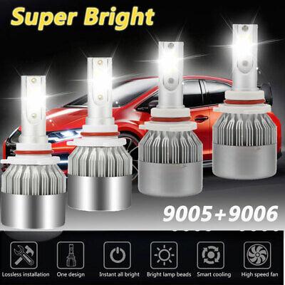 01 Chevrolet Silverado 1500 Driving - 9005+9006 Combo LED Headlight Bulb Kit for Chevy Silverado1500 2500 HD 2001-2006