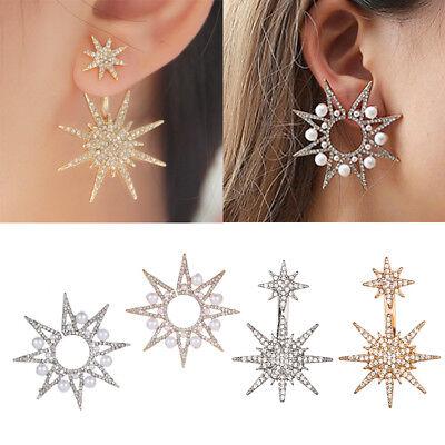 1PC Women Fashion Crystal Rhinestone Dangle Gold Star Ear Stud Earring Jewelry](Gold Star Jewelry)