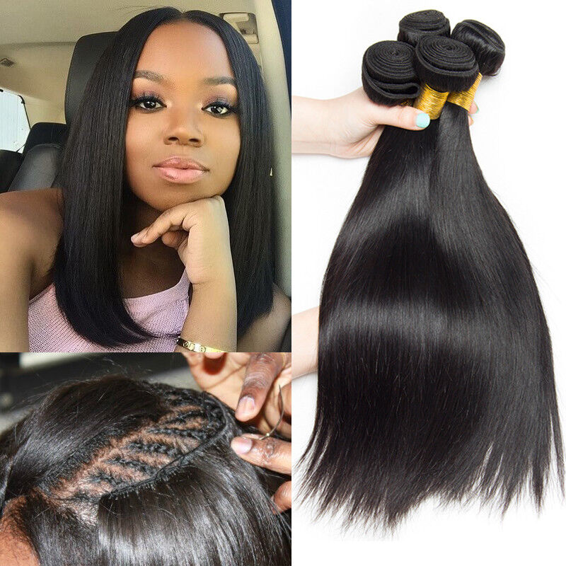 4 Bundles Peruvian Virgin Remy Hair Straight Human Hair Weave