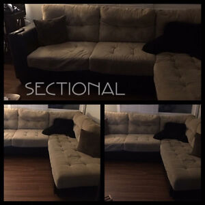 Bella 2-Piece Microsuede Sectional
