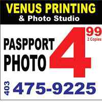Passport Photo only  $4.99 for 2 copies