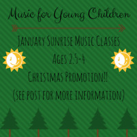 Music Classes Ages 2.5-4 ***Christmas Special***