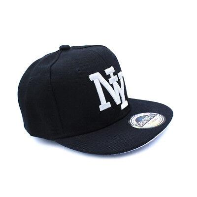 Snapback Cappy Cap Kappe Mütze Kinder Basecap NY New York Schwarz Kids klein süß ()