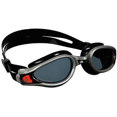 Aqua Sphere Kaiman EXO,Smoke Lens Swim Goggles, Silver/Black