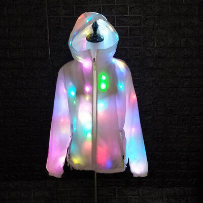 Colorful Led luminous Coat Cool Clothing Dance Lights Jacket Halloween Party  ! - Lights Clothing