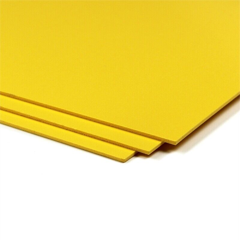 CraftTex Bubbalux Craft Board Daffodil Yellow 2 Packs of 3 Letter Size Sheets