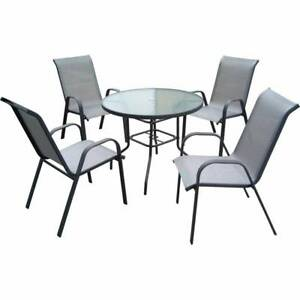 Marquee 5 Piece Steel Sling Back Outdoor Setting Outdoor Dining