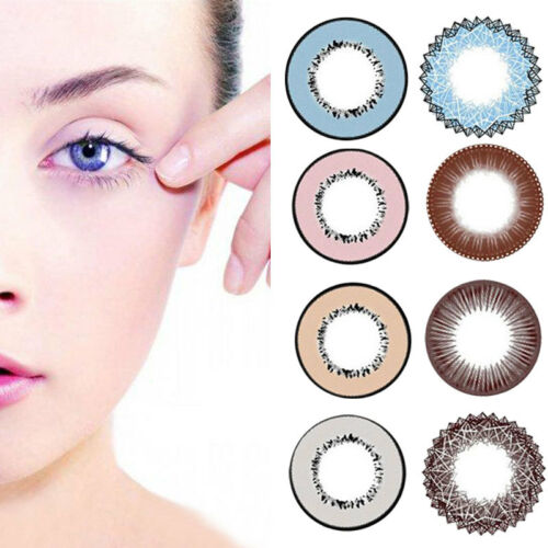 Womens Beauty Makeup Cosplay Casual Crazy Colored Contact Lenses Eyes Charming