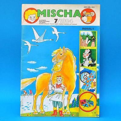 DDR | Mischa 7/1984 Kinderzeitschrift | Hase und Wolf Kinder Kindergarten Schule