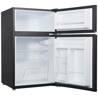 Black Mini Fridge Freezer Refrigerator Cooler Small Compact Office Food Storage
