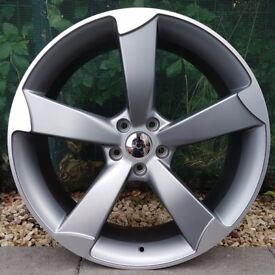 "17"" TTRS Alloys and tyres for 5x100 VW Polo Seat Ibiza Audi A1 Etc"