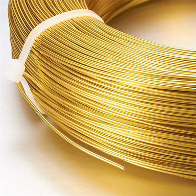 1Roll/100Meter Gold Aluminum Wire Crafts Jewelry Beading Making 1.5mm Gauge 15