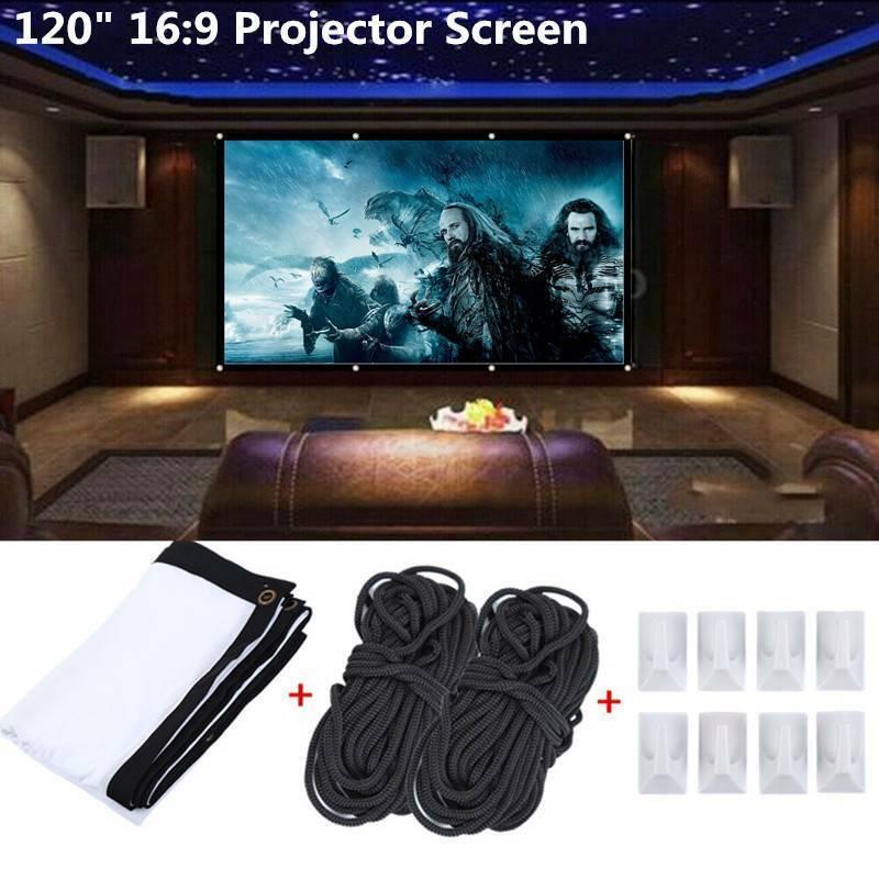 "Portable 120"" Projector Screen 16:9 HD Outdoor Home Cinema T"