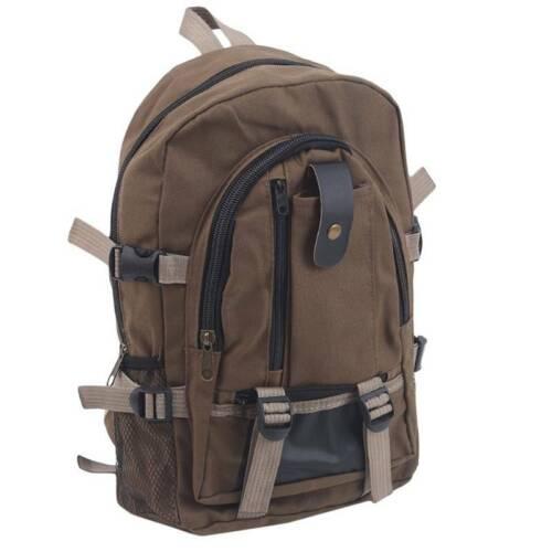 Men Canvas Backpack Rucksack Travel Sport Hiking Schoolbag N