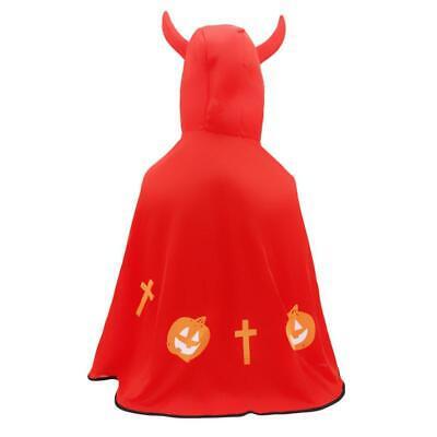 CUTE Girl Boys Kids Children Halloween Party Horn Devil Hoodie Cape Costume LA Cute Devil Girl