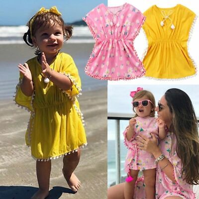 ess Baby Girl Cute Sundress Swim Wear Fashion Cover Up  (Cute Girl Dress Up)