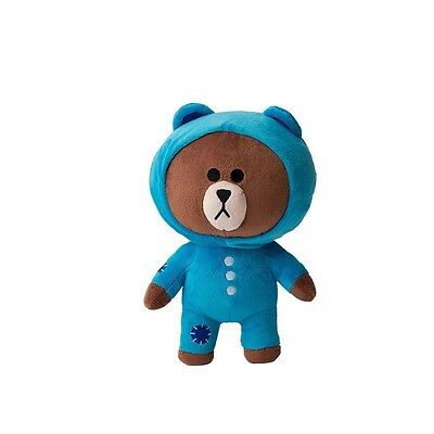 Korea Naver Line Rangers Blue Underwear Brown 25Cm Plush Doll Mascot Gift