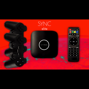 SYNC Elite - with 2 six axis controllers and over 2000 games