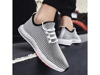 SALE! Mens Mesh Flats Shoe Gym Sneakers Breathable Fashion Casual Light Masculino Size 8/42