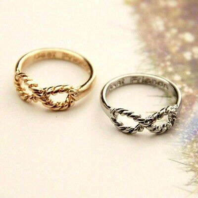 2 BFF Letter Best Friends Silver Gold Infinity 8 Bow knot Friendship