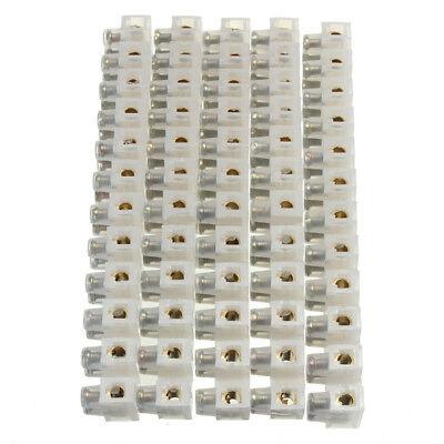 10pcs 380v 10a Dual Row 12 Positions Terminal Block Barrier Strip Connectors Us