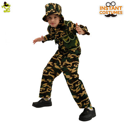 Scout Camo Costume Kid Boy Cool Investigator Imitation Outfit for Carnival Party