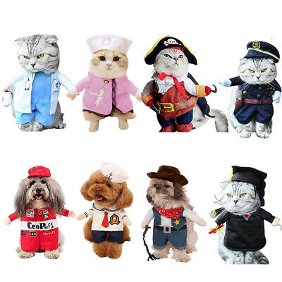 Guy Pirate Costume (Halloween Christmas Pet Small Dog Cat Pirate Costume Outfit Cosplay Clothes)