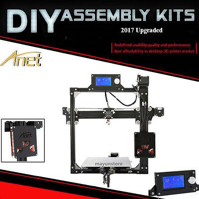 2017 Anet A2 X2 Repetier Desktop 3D Printer DIY Kit Self Assembly+