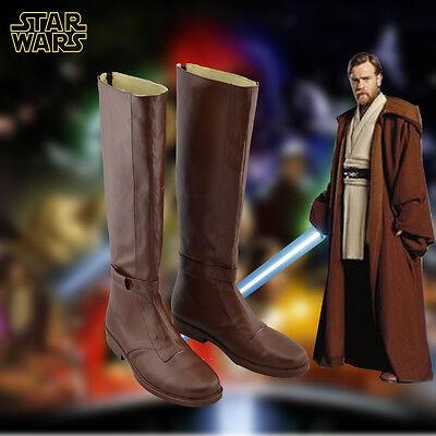 Star Wars The Force Awakens Jedi Kenobi Stiefel Schuhe Kostüme Cosplay Boots