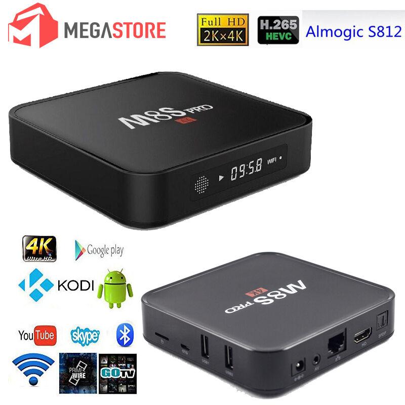M8S PRO 4K CON DISPLAY ANDROID INTERNET TV SMART BOX 1GB / 8GB DECODER IPTV