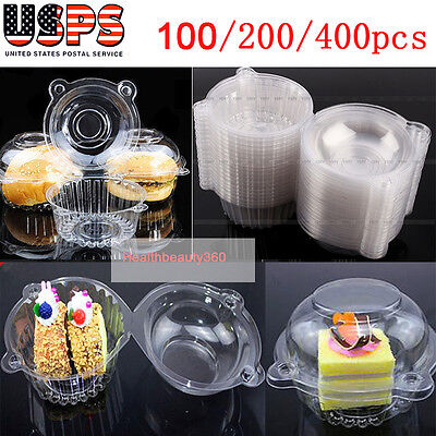 100/400pcs Clear Plastic Cupcake Dome Favor Box Container for Wedding PartyBoxes](Cupcake Plastic Containers)