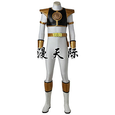 Mighty Morphin Power Rangers ZYURANGER Tommy white Weiß Cosplay Kostüm Costume