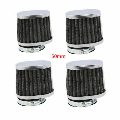 4 X 50MM POD CONE MOTORBIKE UNIVERSAL  AIR FILTER WASHABLE FIT SUZUKI