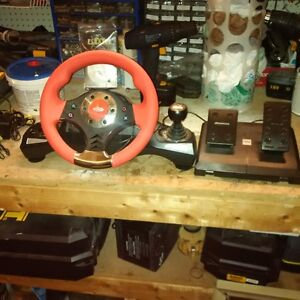 computer steering wheel and pedals