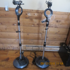 Amplified mic's with stands