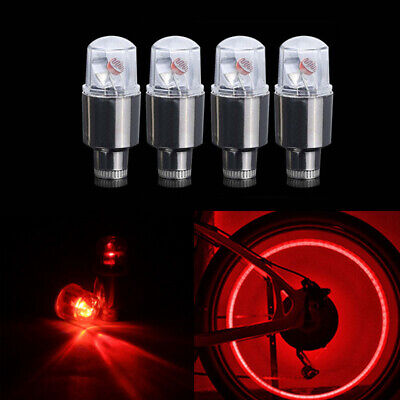 4x Red LED Dragonfly Wheel Tyre Tire Air Valve Stem Cap Light Lamp For Car Bike](Light Up Tire Caps)