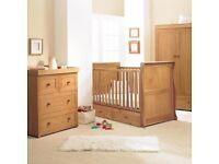 East Coast Langham Oak 3 Piece Nursery Furniture Set (Used)