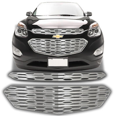 Chrome Grille Overlay Trim (2 Pieces Kit) FOR 2016 2017 Chevrolet Equinox L / LS