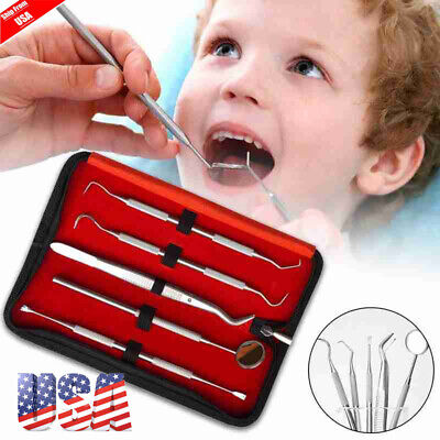 Dental Hygiene Tool Set Stainless Steel Dental Tooth Pick Mouth Mirror Tarter