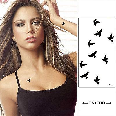Fashion 4pcs Temporary Finger Wrist Liberty Small Birds Fly Fake Tattoo Stickers