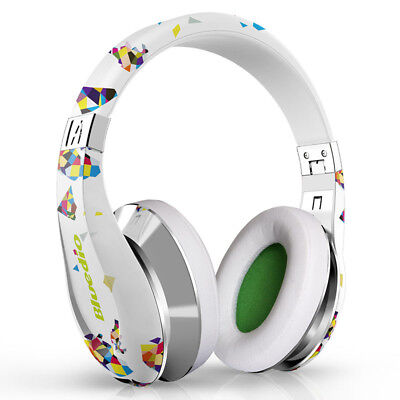Bluedioair Fashionable Wireless 3D Bluetooth4 1 Headphones With Microphone White
