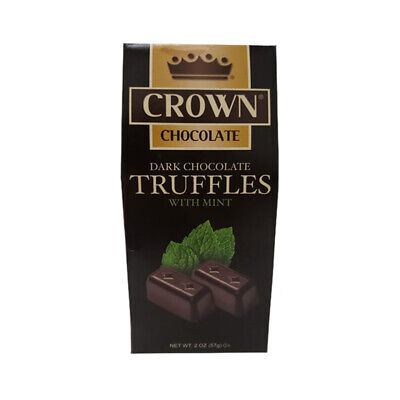 Crown Dark Chocolate Mint Truffles delishes great tasting 3 X box's -