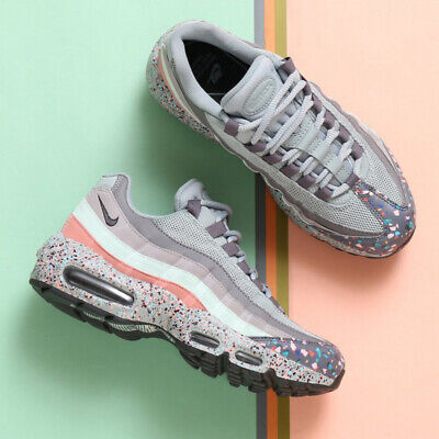 NIKE AIR MAX 95 SE TRAINERS UK 9.5 EU 44.5 PINK GREY 918419-002 CONFETTI 97 MENS