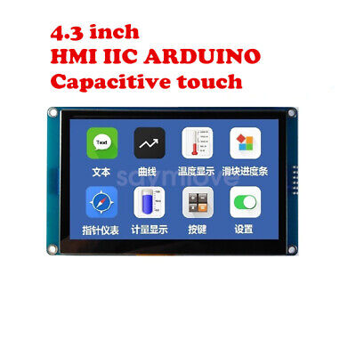 New 4.3 Inch Hmi I2c Lcd Display Module Capacitive Touch Screen For Arduino