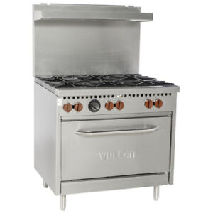 "Nella - 36"" 6-Burner Commercial Gas Range with Oven - Brand New"
