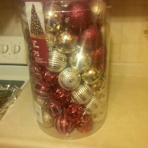 75 Red and Gold Shatterproof Ornaments