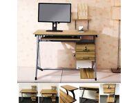 COMPUTER TABLE PC DESKTOP WOOD DRAWER DESK HOME OFFICE DIY FURNITURE WORKSTATION