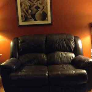 Causeuse cuir inclinable ElRan/ Reclining leather love seat