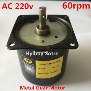 AC 220v 230v Reversible Motor Strong Magnetic High Torque 60rpm slow speed